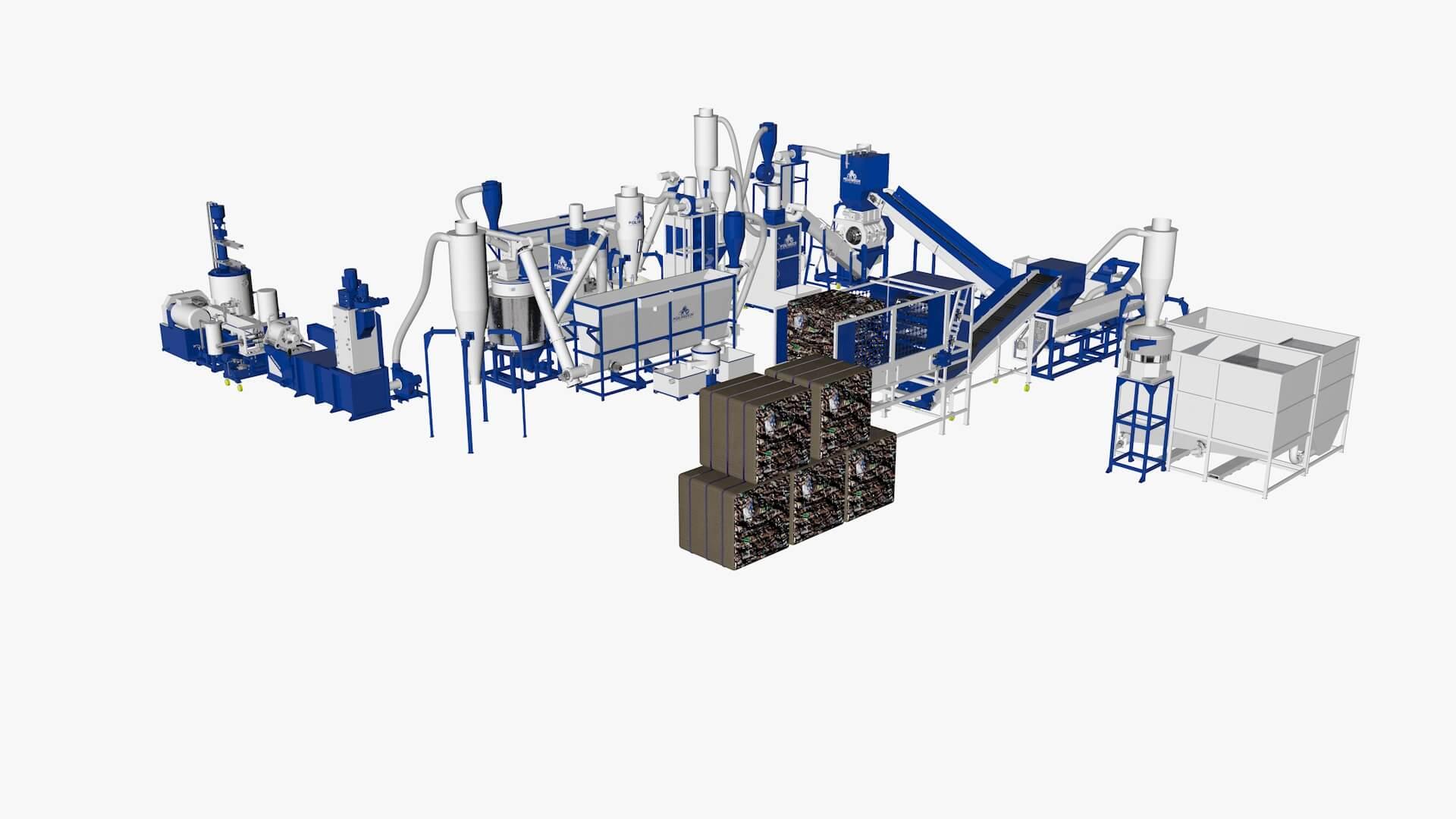 Комплекс (линия) для переработки ПЭТ бутылки